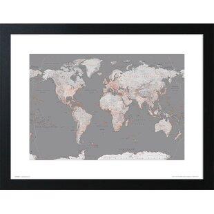 Maps Wall Art You Ll Love Wayfair Co Uk