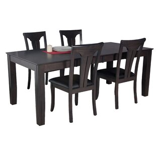 Avangeline 5 Piece Wood Dining Set