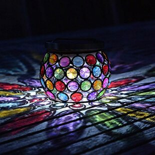 Solar Powered Glow Gem Jar 1-Light LED Decorative And Accent Light By The Party Aisle
