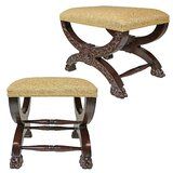 Renaissance Curulis Ottoman Vanity Stool (Set of 2) by Design Toscano