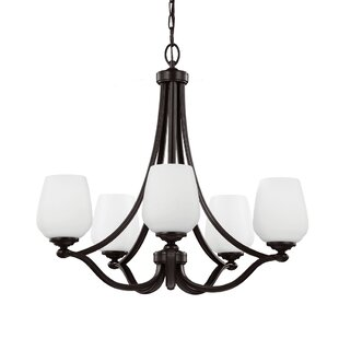 Darby Home Co Eyers 5-Light Shaded Chandelier
