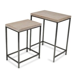 Joziah 2 Piece Nesting Tables by Gracie Oaks