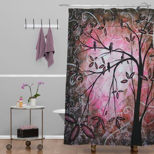 Deny Designs Madart Inc. Cherry Blossoms Extra Long Shower Curtain