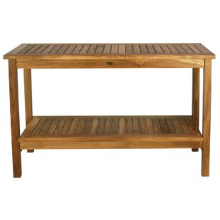 Teak Outdoor Console Tables You\'ll Love in 2019   Wayfair