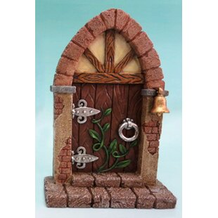Fairy Mini Garden Door with Bell and Vines by Hi-Line Gift Ltd.