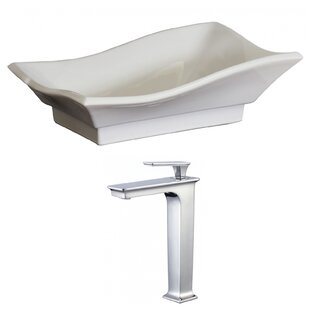 Top Ceramic Specialty Vessel Bathroom Sink with Faucet ByRoyal Purple Bath Kitchen