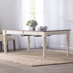 Alise Extendable Solid Wood Dining Table by Lark Manor