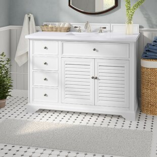 Osmond 48 Single Cottage White Wood Base Bathroom Vanity Set by Greyleigh