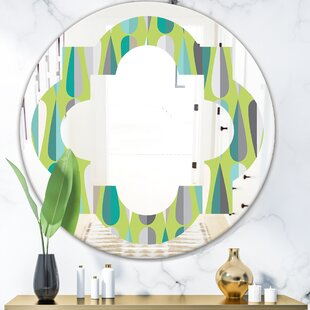 Best Vanity Mirror Made In The Usa East Urban Home Whirl Abstract Pattern I Modern Frameless Wall Mirror