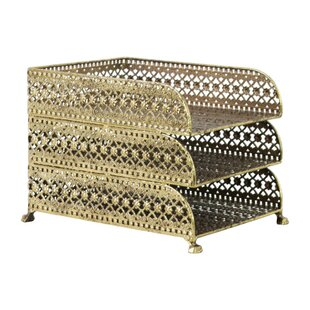 Rosdorf Park Ables Metal Rectangular Office Organizer with 3 Tiers