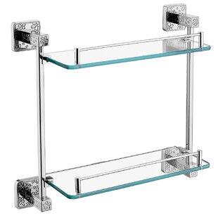 Benbrook Double Glass Wall Shelf by Ivy Bronx