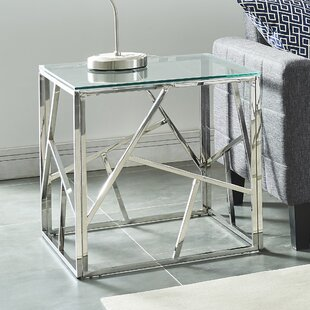 Seeman Stainless Steel End Table by Orren Ellis
