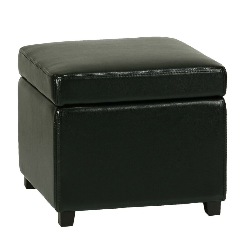 Massimo Storage Cube Ottoman with Hinged Top  sc 1 st  Wayfair & Cortesi Home Massimo Storage Cube Ottoman with Hinged Top ... islam-shia.org
