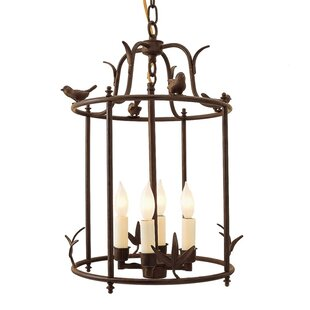 Price comparison Bird Cage 4-Light Outdoor Pendant By JVI Designs