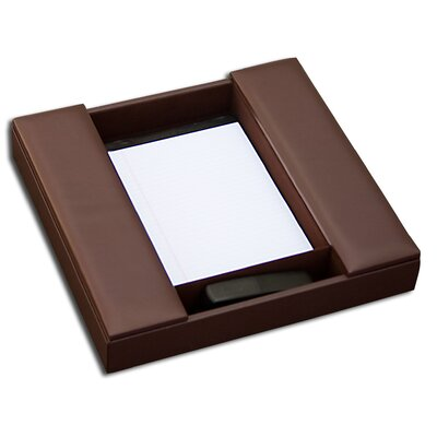 1000 Series Classic Leather Conference Room Organizer in Chocolate Brown Dacasso