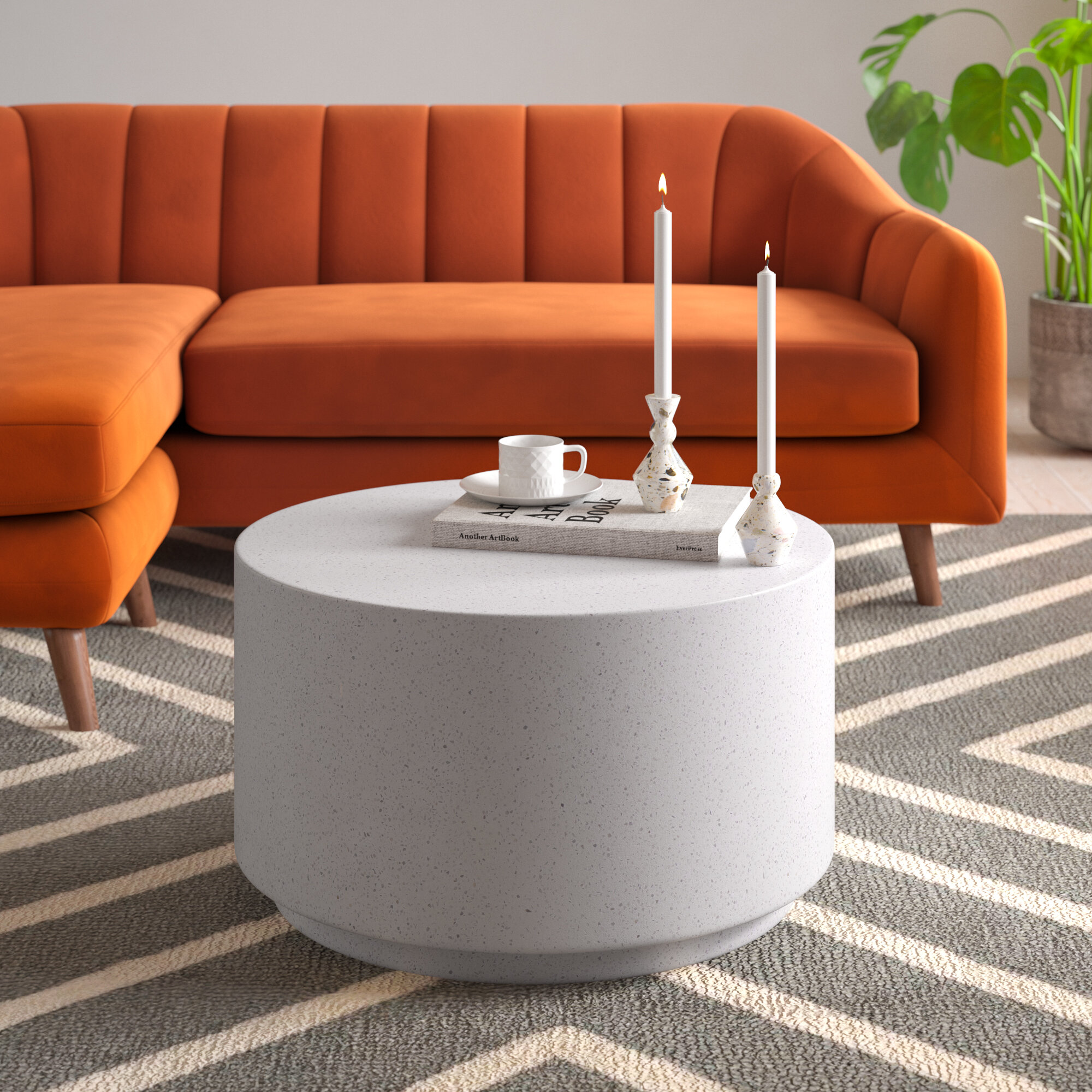 Degraw Drum Coffee Table Reviews Allmodern