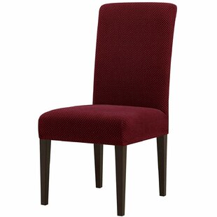 Jacquard Spandex Stretch Box Cushion Dining Chair Slipcover (Set Of 4) By Winston Porter