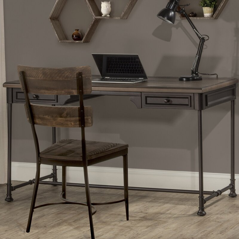 17 Stories  Maggi Solid Wood Writing Desk and Chair Set