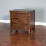 Hearns 3 Drawer Nightstand by Loon Peak®