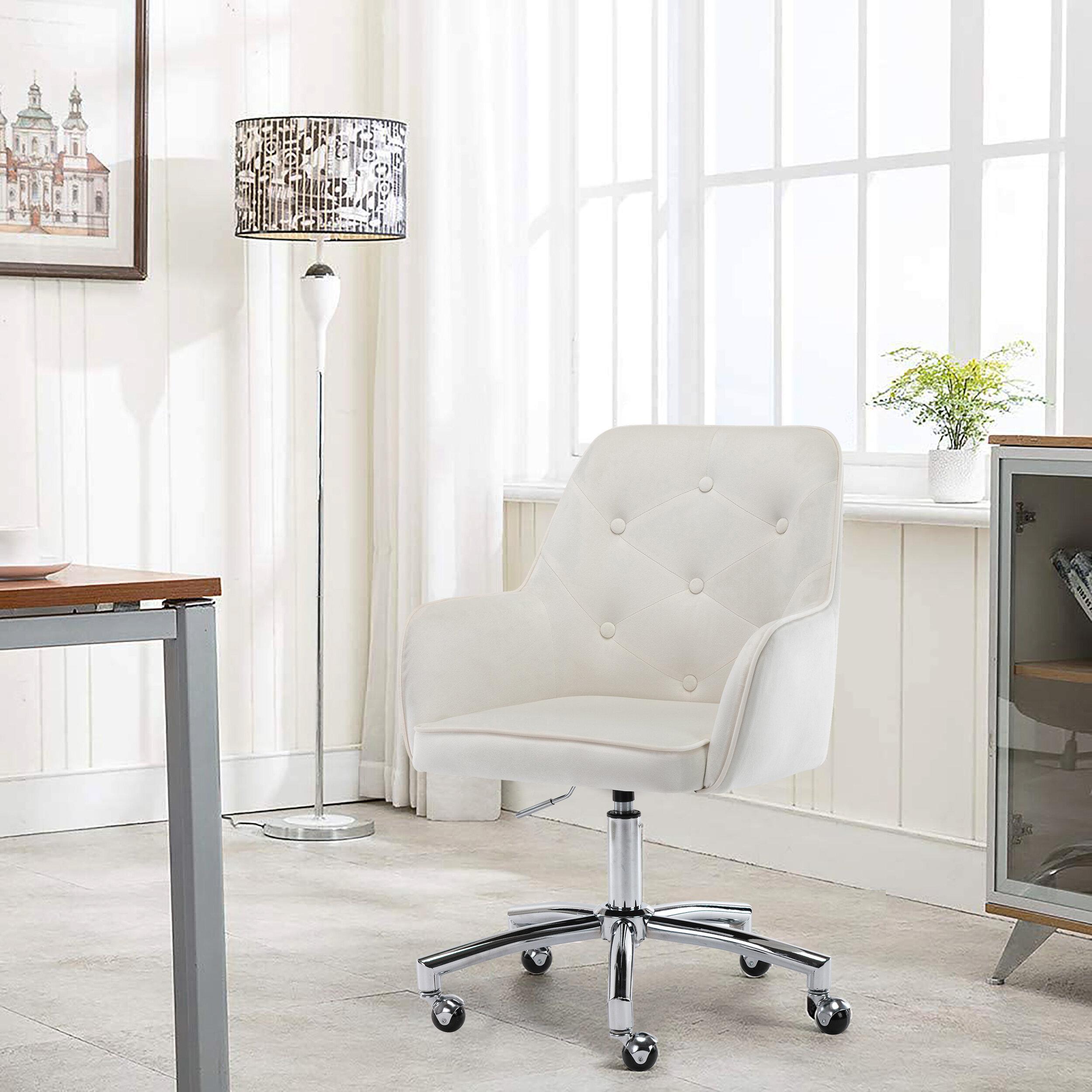Latitude Run Painting Plate Velvet Task Chair Reviews Wayfair