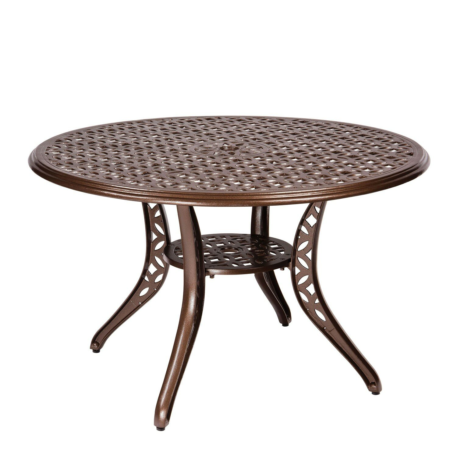 290b47714b8a Woodard Casa Metal Dining Table | Wayfair