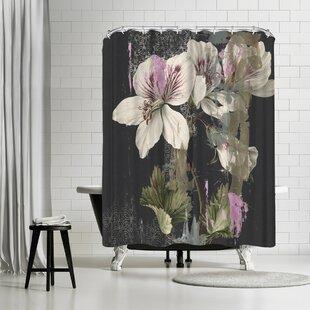 East Urban Home PI Creative Art Papercut Floral Shower Curtain
