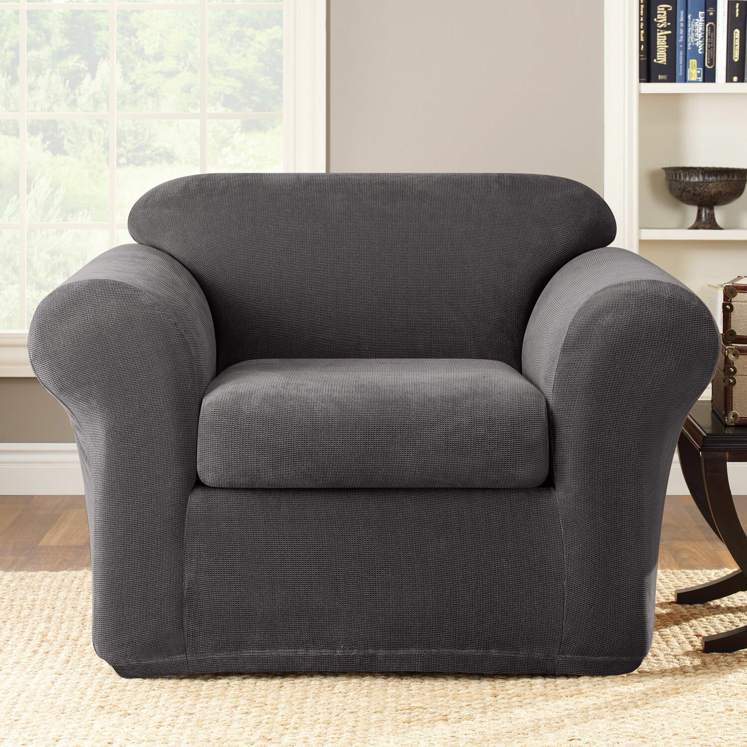 Sure Fit Stretch Metro Box Cushion Armchair Slipcover Reviews