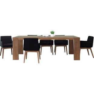 Bohostice 7 Piece Dining Set Latitude Run