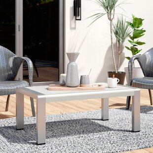 Purchase Durbin Outdoor Aluminum Coffee Table By Wade Logan