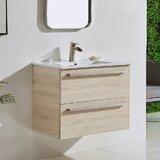 Acaia 30 Wall-Mounted Single Bathroom Vanity Set by Wrought Studio™