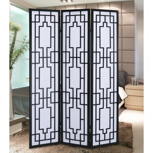 70.31 X 52 Sudoku Screen 3 Panel Room Divider By Roundhill Furniture ...