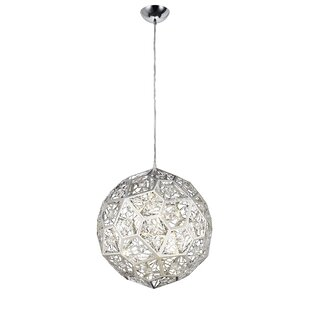 Giancola Round Laser Cut 1-Light LED Globe Pendant by Everly Quinn
