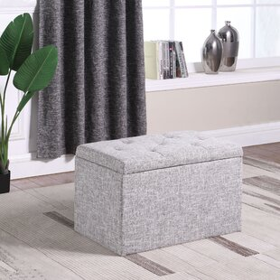 Rocky Shoe Gauze Upholstered Storage Bench by Charlton Home