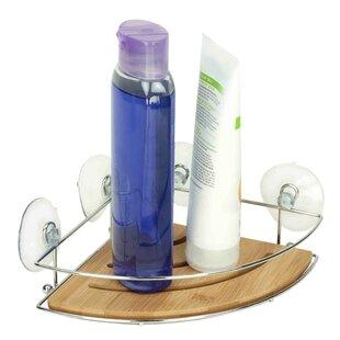 Home Basics Bamboo Corner Shower Caddy