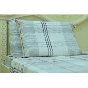 Myaa Plaid & Check 190 Thread Count 100% Cotton Sheet Set