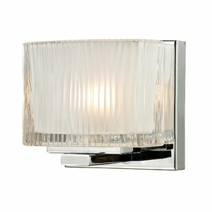 Amirah Glass 1-Light Bath Sconce by Orren Ellis