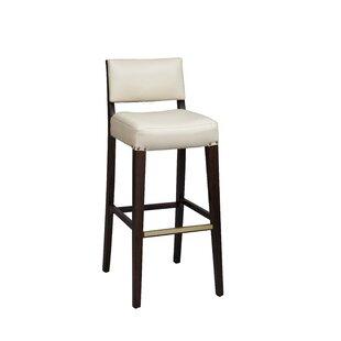 Amoroso Beechwood Solid Back Fully Upholstered Seat Bar Stool