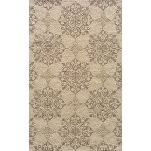 St James Hand-Hooked Beige Indoor/Outdoor Area Rug