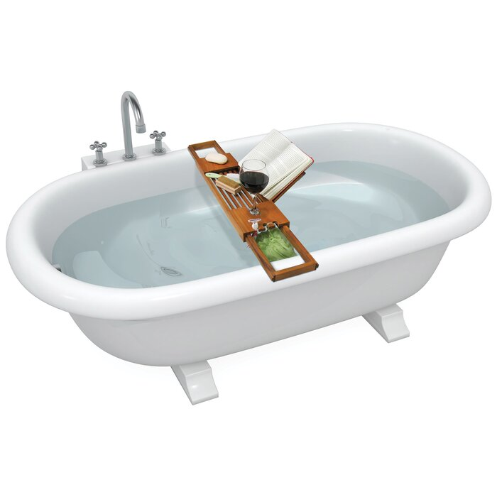 extending sides bathtub with toilettree book wooden products bamboo caddy and adjustable dp holder