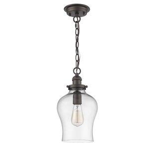 Gracie Oaks Wendel Transitional 1-Light Bell Pendant