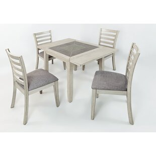 Leigh 5 Piece Dining Set Red Barrel Studio