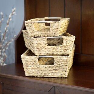 Order Ridgefield 3 Piece Wicker Basket Set By Three Posts