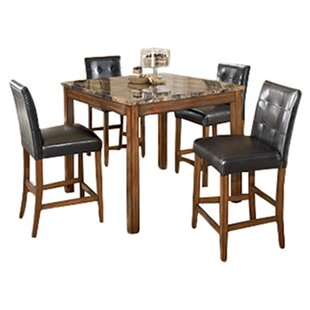 Charlton Home Athens 5 Piece Counter Height Dining Set