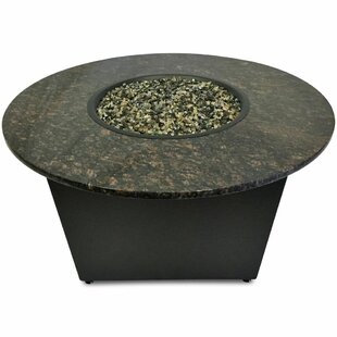 The Santiago Granite Gas Fire Pit Table