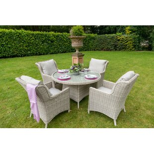 Review Hermina 4 Seater Dining Set With Cushions