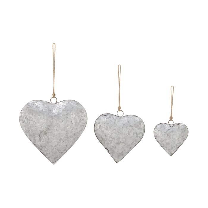 Cole & Grey 3 Piece Metal Heart Wall Décor Set & Reviews | Wayfair.ca