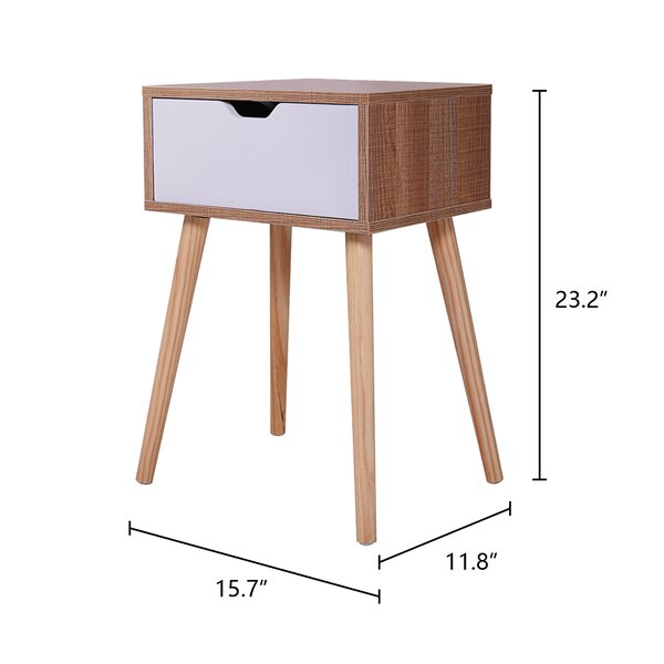 Wrought Studio Gwendolyn End Table Set With Storage Reviews Wayfair Ca