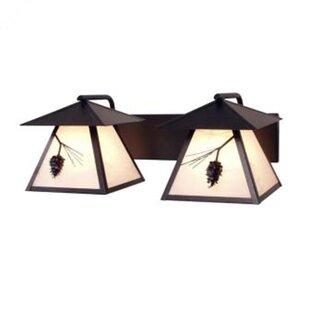 Baysidevillage Twin 2-Light Outdoor Wall Lantern By Loon Peak