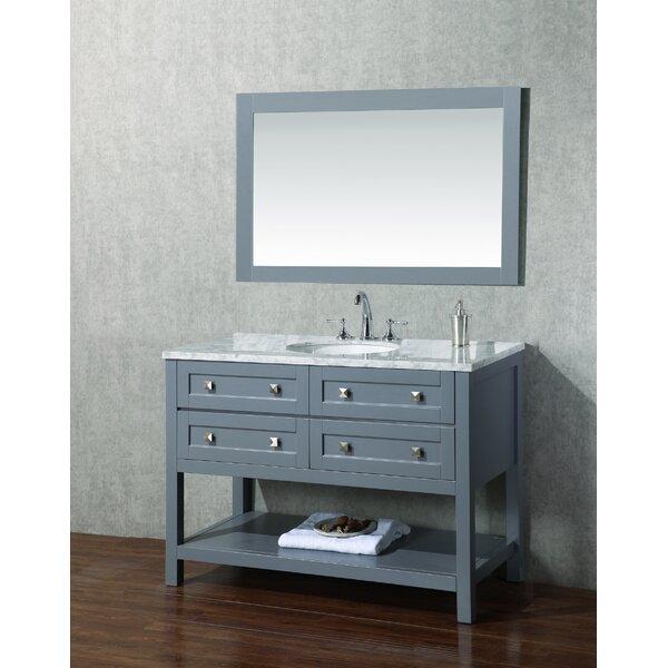 Brayden Studio Whaley 48 Single Modern Bathroom Vanity Set With Mirror Reviews Wayfair