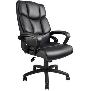 Prestridge Genuine Leather Executive Chair by Ebern Designs